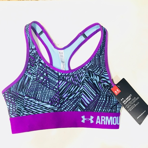 45a79e3ec0080 Under Armour Womens Mid Pact Support Sports Bra Xs